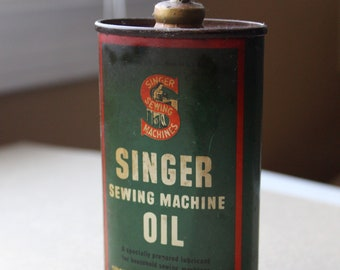 Vintage Singer Sewing Machine Company Oil Can - Lead Top