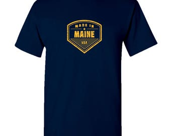Made in Maine T Shirt - Navy