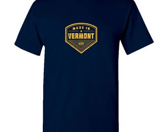 Made in Vermont T Shirt - Navy