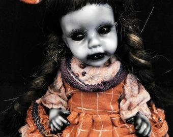 """Samar 9"""" OOAK Porcelain Horror Doll"""