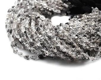"Single Strand Herkrimer Diamond Fancy Beads, 7x5mm Gemstone Rondelle  14.5"" Inch Long GemMartUSA (DRDH-70001)"