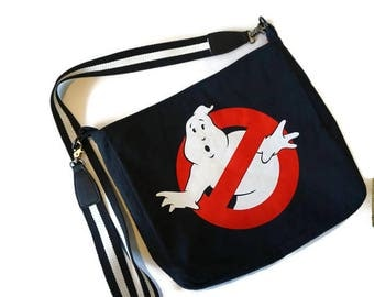 Ghostbusters Bag • Upcycled Tshirt Purse • Ghostbusters Tee Shirt Bag • Crossbody Bag • Ghostbusters Gift