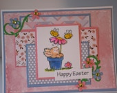 Happy Easter Handmade Greeting Card - 3D Silicone Card