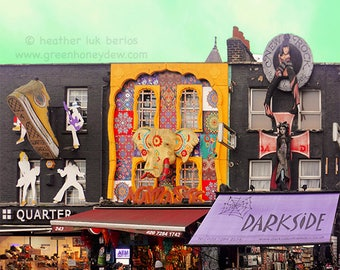 Camden High Street Shops London Photography - Fine Art Print, England, Darkside, Quarter, Accessorize Boutique Stores Rainy Day, Londoners