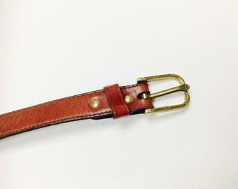 Narrow AB belt, leather, 70er, 70s, brand belts, belt, vintage