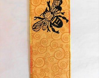 NEW Honeybee Fabric Bookmark