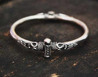 Indian Silver Bracelet - Ethnic Bracelet from India - SMALL