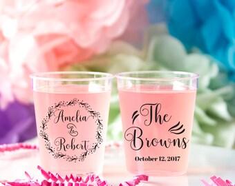 Wedding Shot Glass, Plastic Custom Shot Glass, Personalized Shot Glass, Wedding Favor Shot, Party Shot Glasses, Bachelorette Shot Glass