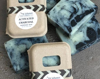 Activated Charcoal Soap - Charcoal Soap - Facial Soap - All Natural Soap - Handcrafted Soap - Shea Butter - Moisturizing Soap - Tea Tree -