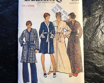 Vintage 1970s Robe Pattern // Butterick 4157 > Size Large > Unused