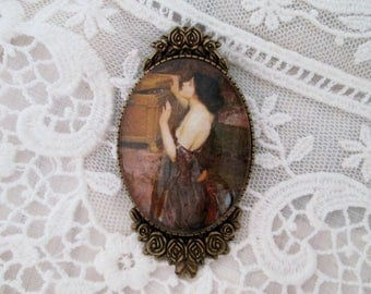 Pandora,ca.1896,John William Waterhouse Fine Art Reproduction in Cameo,Timeless Gift of Art,Gift For Her,Wearable Jewelry,Bohemian,Victorian