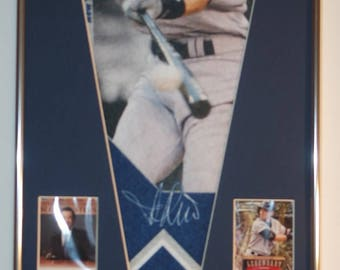 New York Yankees Ichiro Suziki Player Pennant & Cards...Custom Framed!