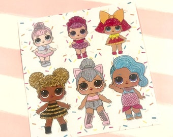 """LOL Surprise """"The Queens"""" Stickers!"""