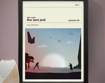 Star Wars Episode VIII The Last Jedi  Movie Poster, Movie Print, Film Poster