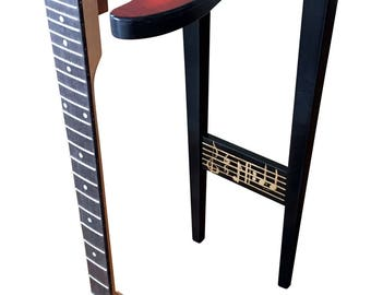 Fender Guitar End Table - Fiddleback Maple Sun Burst