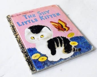 The Shy Little Kitten (1971, A Little Golden Book) Children's Book