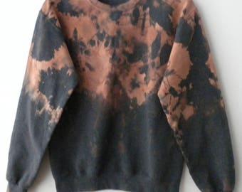 Tie dye Sweatshirt, Small acid wash crewneck sweatshirt, dip dyed, jumper, indie, Grunge,sweatshirt, Vintage Retro Rocker, unisex, sweater