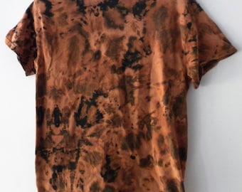 Acid wash Tee Shirt, Tie dye T-shirt, Black, Grunge, T-shirt, Crop Tee shirt, vintage retro, hipster, Reverse Tie Dye, Urban, Rave, Galaxy