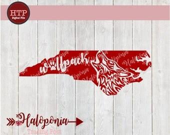 NC Wolfpack North Carolina State SVG cut File