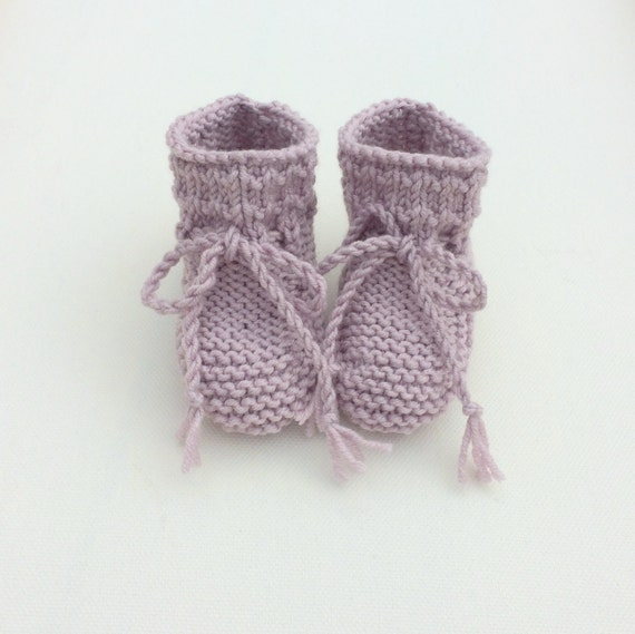Willow Baby Booties in Dusky Pink - Pre-Order