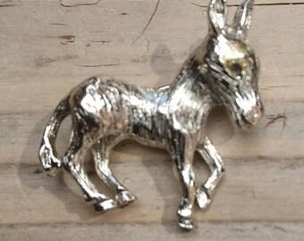 Vintage Hobe Donkey brooch