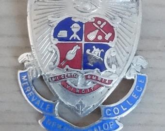 Vintage college enamel badge