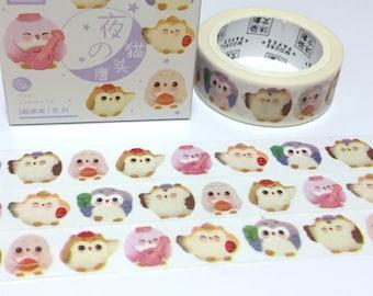 Owl washi tape 7M owl themed sticker tape cute bird fat bird cartoon owl Masking Tape owl decor scrapbook owl planner sticker gift