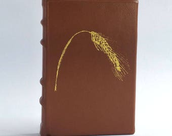 """Tan Brown Leather Journal, """"Golden Rye"""""""