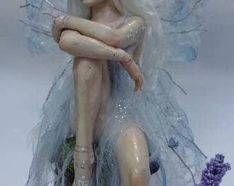 SHADOWSCULPT OOAK FAIRY forest woodland fantasy art doll elf polymer clay sculpture figurine