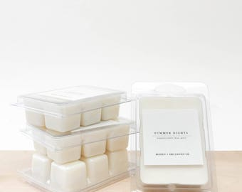 SUMMER NIGHTS Scented Soy Wax Melts | Scented Soy Tarts, Soy Candle Melt, Scented Wax Cubes