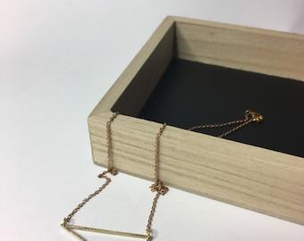 Jewelry chain triangle brass