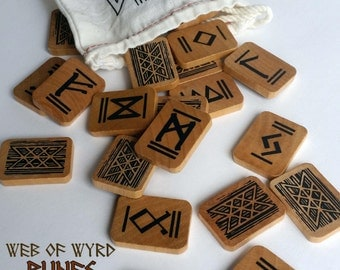 RUNE TILES Web of Wyrd Elder Futhark Rune set