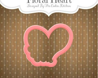 Floral Heart Cookie Cutter