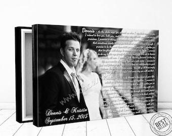Custom canvas print, Framed canvas print, Cotton canvas print, Wedding canvas print, Vows canvas print, Anniversary canvas print, custom art