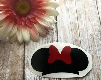 Minnie Ears Vinyl Decal Car Laptop Wine Glass Sticker