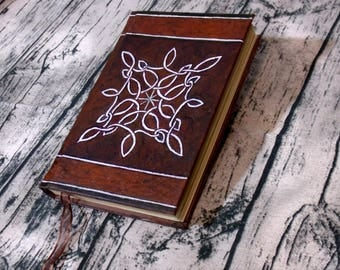 Red Knot Journal 300p Blank Book of Shadows 6x9 Grimoire