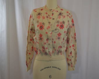 Vintage Floral Wool Cardigan by Wondermere