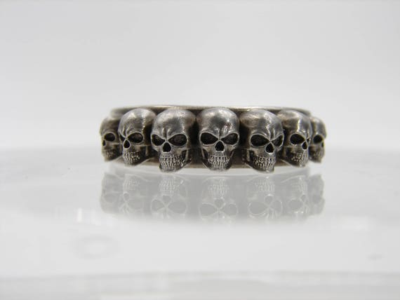 Skull ring. This is my custom design 7 Skull ring made with sterling silver.