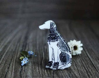 Dalmatian brooch pin Dog brooch pin Dalmatians art For dog lovers Dog jewelry animal jewelry for pet lovers  (0131)