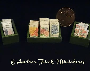 Miniature Seed Boxes - 1-12 scale - Choose one