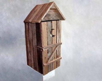 Outhouse Toilet Paper Holder, Rough-cut Lathe Bathroom Toilet Tissue Holder