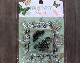 Bo Bunny Gabrielle Clear Stamp Set - Butteflies