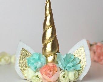 Custom Unicorn Headband, girl headbands, flower headbands