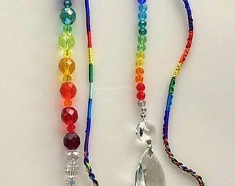 Crystal Suncatchers, Swarovski Crystal, Chakra Crystal Sun Catchers, Crystal Prism, Rainbow Maker