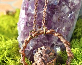 Tiny Twisted Pinecone Pendant