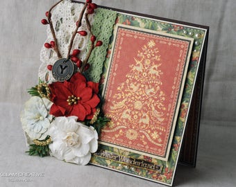 Christmas Tree Greeting Card, Christmas Card, Keepsake Card, Graphic 45, Handmade Card, Layered Card