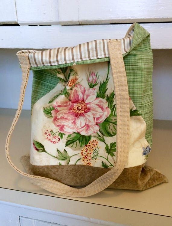 Deluxe Floral Tote Bag