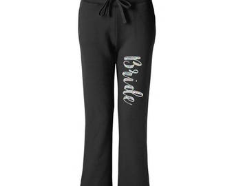 Bridal Party Sweatpants - Bachelorette Party / Wedding Party Gift / Bridesmaid Maid of Honor Mother of the Bride Mother Gift