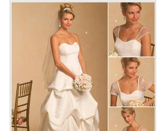 OOP, 5184, Butterick, Women's ,bridal, wedding gown, Strapless, formal gown, strapless pull up skirt, Sweetheart, neckline, prom, bridesmaid