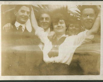 Vintage Photo Gladys Was a Popular Girl, 1910's Original Found Photo, Vernacular Photography